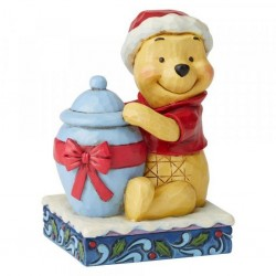 DISNEY - WINNIE THE POOH - FIGURINE 10 CM - SHOWCASE COLLECTION - TRADITIONS - HOLIDAY HUNNY-1