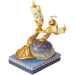 DISNEY - BEAUTY AND THE BEAST - FIGURINE 15 CM - SHOWCASE COLLECTION - TRADITIONS - ROMANCE BY CANDLELIGHT-1