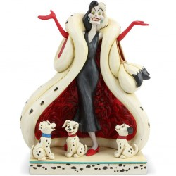 DISNEY - ONE HUNDRED AND ONE DALMATIANS - FIGURINE 21 CM - SHOWCASE COLLECTION - THE CUTE AND THE CRUEL