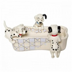 DISNEY - ONE HUNDRED AND ONE DALMATIANS - FIGURINE 9.5 CM - SHOWCASE COLLECTION - TRADITIONS - PUPPY BOWL