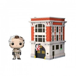 GHOSTBUSTERS - VINYL FIGURE POP TOWN N° 03 - DR PETER VENKMAN WITH FIREHOUSE-1