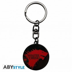 GAME OF THRONES - PORTE-CLES METAL - WINTER IS COMING