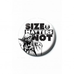 STAR WARS - BADGE 25 MM - SIZE MATTERS NOT