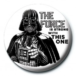 STAR WARS - BADGE 25 MM - THE FORCE IS STRONG