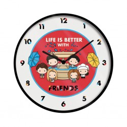 FRIENDS - HORLOGE 25 CM - LIFE IS BETTER WITH FRIENDS - CHIBI