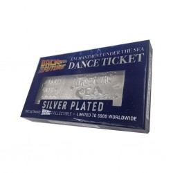 BACK TO THE FUTURE - TICKET PLAQUE ARGENT - ENCHANTMENT UNDER THE SEA (5 000 EX)
