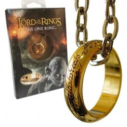 THE LORD OF THE RINGS - COLLIER EN PLAQUE OR - ANNEAU UNIQUE