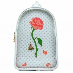DISNEY - BEAUTY AND THE BEAST - SAC A DOS - LOUNGEFLY - ROSE ENCHANTEE + PIN COLLECTOR