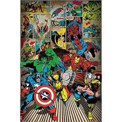 MARVEL - COMICS - POSTER 61X91.5 - HERE COME THE HEROES