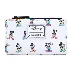 DISNEY - MICKEY MOUSE - PORTEFEUILLE - LOUNGEFLY - PASTEL AOP POSES