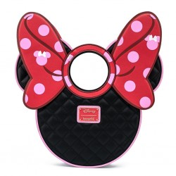 DISNEY - MINNIE MOUSE - SAC A MAIN - LOUNGEFLY - QUILTED BOW HEAD
