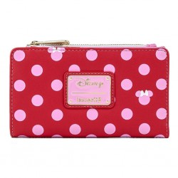 DISNEY - MINNIE MOUSE - PORTEFEUILLE - LOUNGEFLY - PINK POLKA DOT