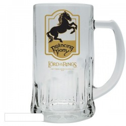 THE LORD OF THE RINGS - CHOPE A BIERE EN VERRE 50 CL - PRANCING PONY