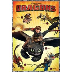 ANIMATION - DRAGON - POSTER 61X91.5 - CHARACTERS