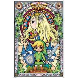 THE LEGEND OF ZELDA - POSTER 61X91.5 - STAINED GLASS