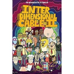 RICK AND MORTY - POSTER 61X91.5 - STARS OF INTERDIMENSIONAL CABLE