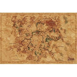 THE LEGEND OF ZELDA - BREATH OF THE WILD - POSTER 61X91.5 - HYRULE WORLD MAP