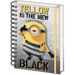 ANIMATION - DESPICABLE ME - NOTEBOOK A SPIRALES A5 - YELLOW IS THE NEW BLACK