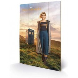 DOCTOR WHO - IMPRESSION SUR BOIS 40X59 - 13TH DOCTOR