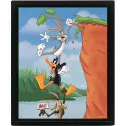 ANIMATION - LOONEY TUNES - CADRE 3D LENTICULAR 26X20 - CLIFF HANG