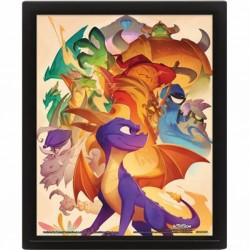 GAMES - SPYRO - CADRE 3D LENTICULAR 26X20 - CHARACTER COLLEGE