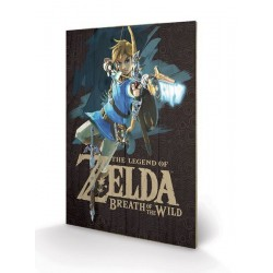 THE LEGEND OF ZELDA - BREATH OF THE WILD - IMPRESSION SUR BOIS 40X59 - GAME COVER