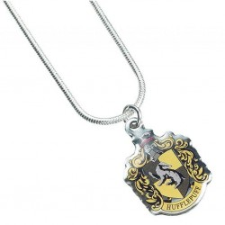 HARRY POTTER - COLLIER PLAQUE ARGENT - HUFFLEPUFF